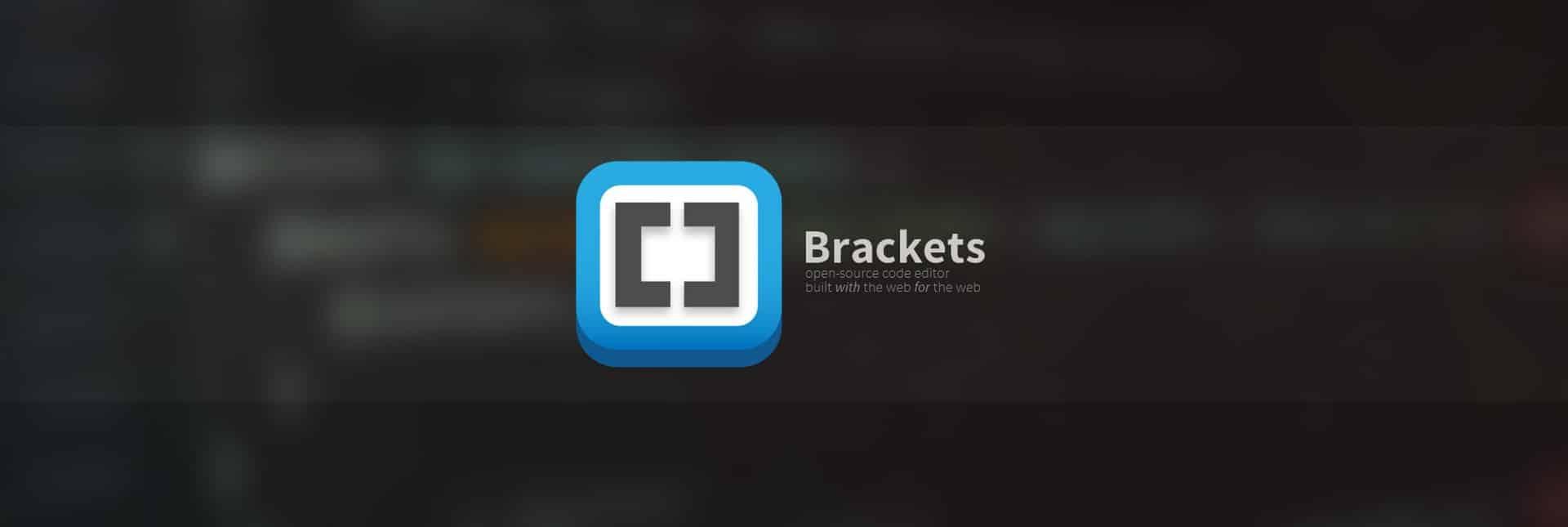 Le logo de Brackets éditeur de code