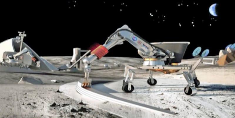 Imprimante de construction sur la lune